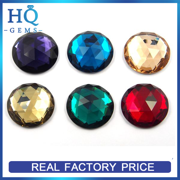 wholesale flat back glass gems buy glass gems