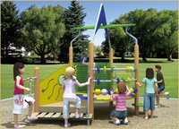 KAIQI classic Super Star Series KQ50083A backyard, residential park kids PE playground equipment