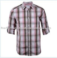 Long Sleeve Checked Mens Shirts