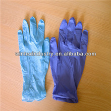 disposable cheap non sterile colored nitrile exam gloves