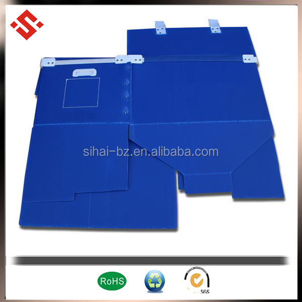 popular plastic packaging box corrugated polypropylene box foldable packaging box