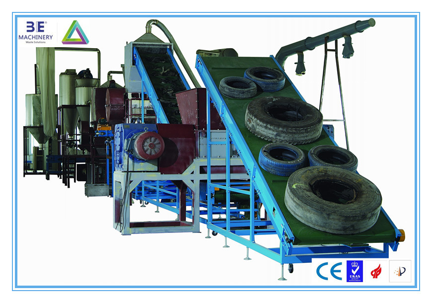 High Yield of 3E's Waste Tire Recycling Machine/Tyre Recycling Production Line, get CE Marking