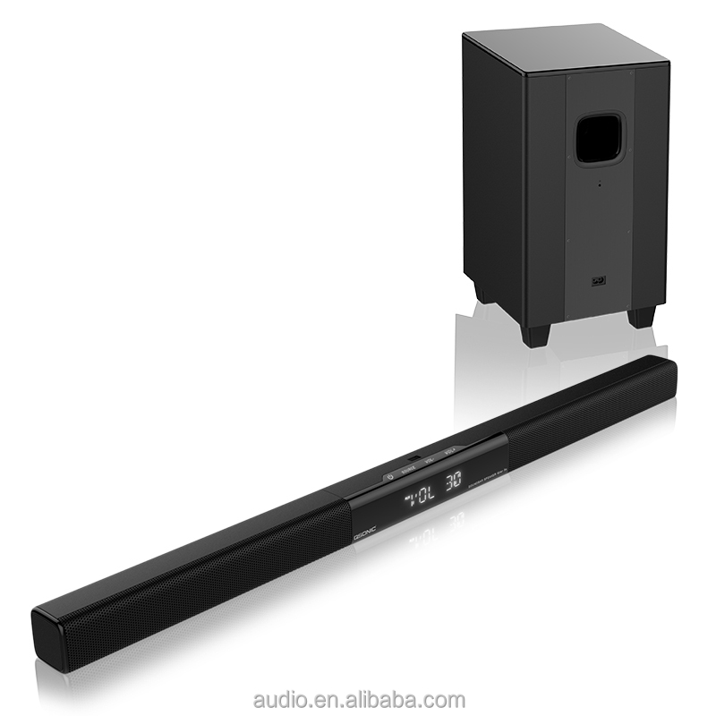 tv sound bar with external subwoofer box usb,sd,fm,remote control,wireless MIC