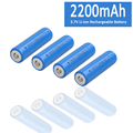 2200mAh MAX Battery 3.7V Li-ion 18650 Rechargeable Battery Button Top/Flat Top Battery