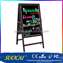 Hot sale shop used double sided outdoor led open writable signs board