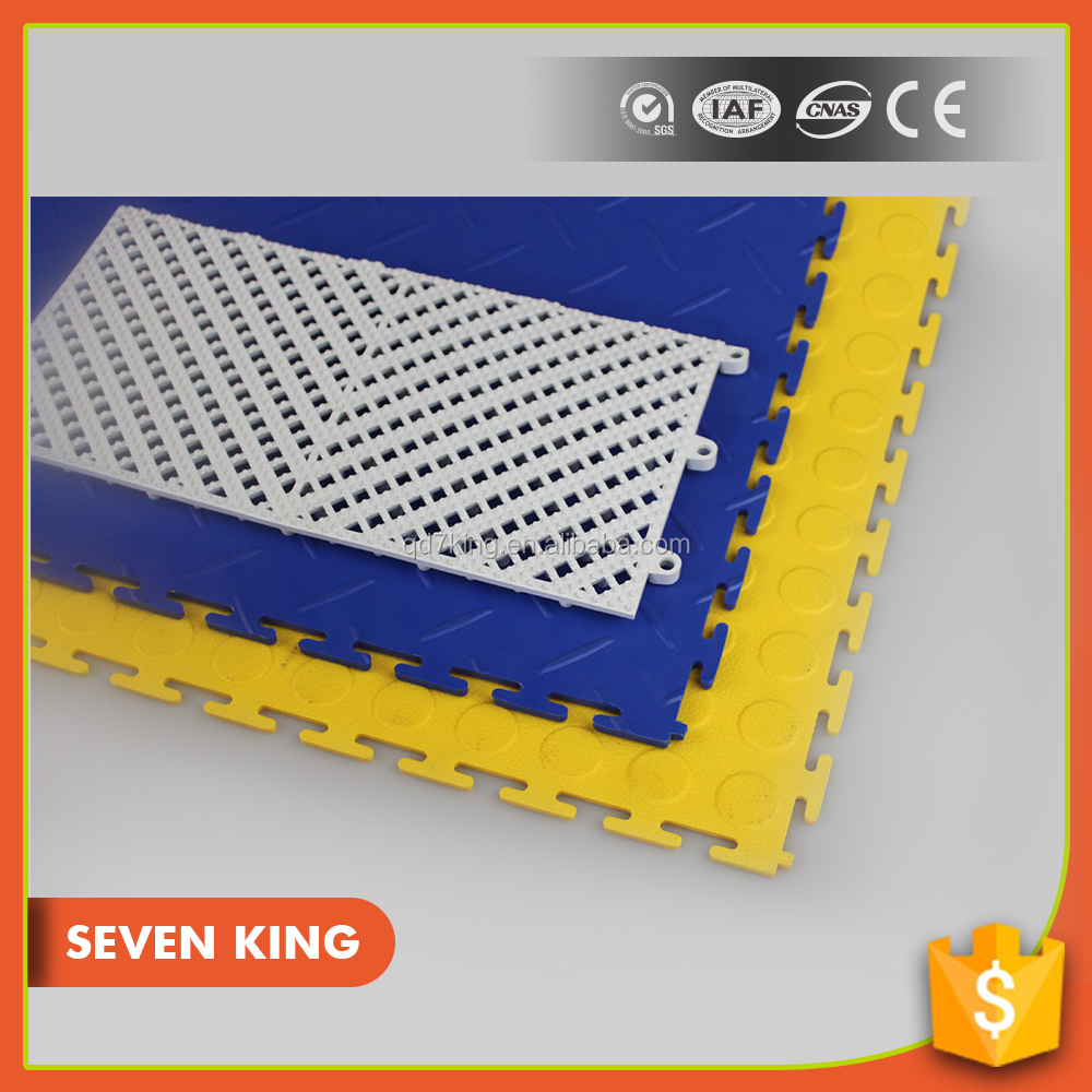 QINGDAO 7KING wear resistant universal warehouse workshop PVC Flooring mat
