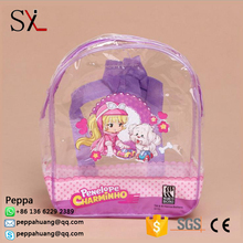 High Quolity PVC Vinyl Transparent School Mesh Hand Bag