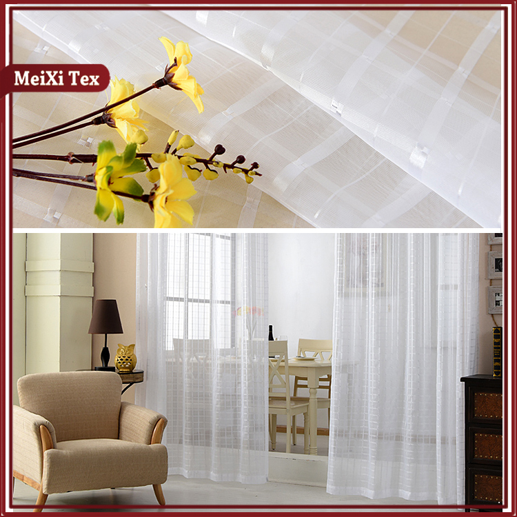 High quality sheer rideaux transparents bohemian window cloth curtains