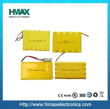 High quality NiCd 7.2V 800mAh rechargeable Battery Pack