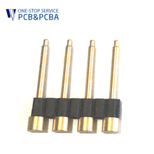 2.54 mm Custom Brass Gold Plated Pogo Pin Threaded Spring Pins