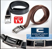 As Seen On TV High Quality COMFORT CLICK Leather Belt For Men Black Or Brown