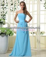 light blue simple long sleeveless junior bridesmaid dresses plus size western dresses bridemaids gown on sale