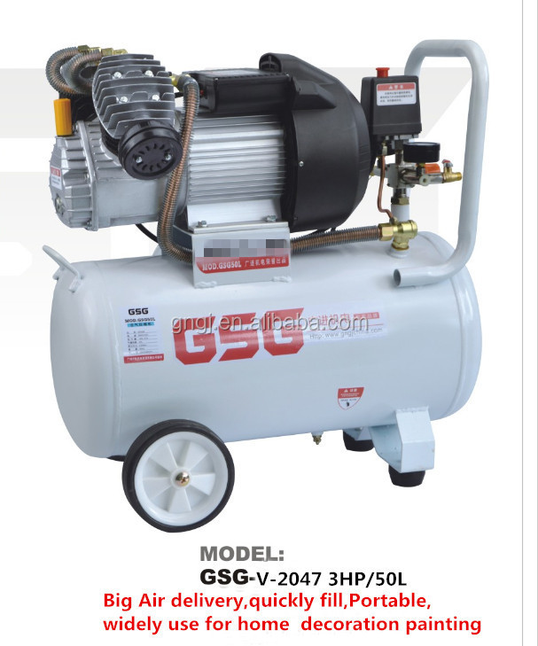 double cylinder air compressor for painting