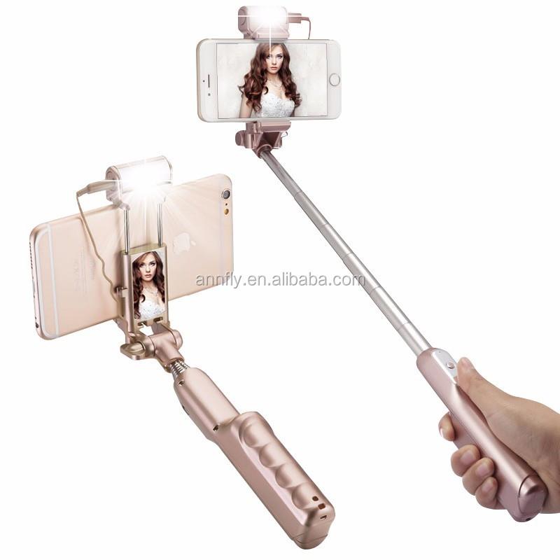 Selfie-Stick mit Rückspiegel, Bluetooth und Light Remote Shutter Einbeinstativ für iPhone Samsung Android-Handys - ANKUX Tech Co., Ltd