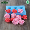 R0932 New Silicone rubber soap molds Flower soap molds manufacturer