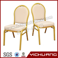 Cheap metal upholstered used stacking banquet chair for sale YC-ZL13