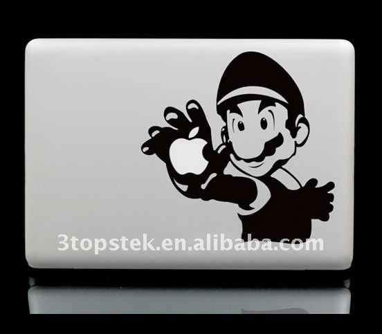 New Arrival-Unique Sticker / Decal Super Mario Bros for Laptop MacBook decal sticker