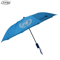 Auto open and manual close umbrella 2 fold umbrella with color handle