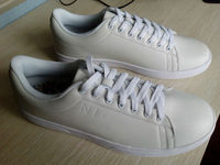 2015 latest design hot selling white blank canvas sneakers