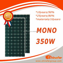 Factory direct mono 350W solar pv for system