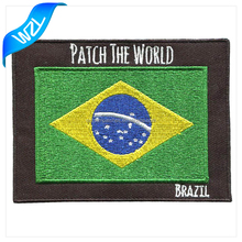 Wholesale Custom Cheap Brazil Country Flag Embroidery patches