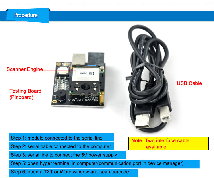 LV2028 Embedded 2D OEM Engine Scanner Portable for Kiosk and ATM