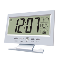 Big Size LCD Digital Alarm Clock With Temperature And Humidity