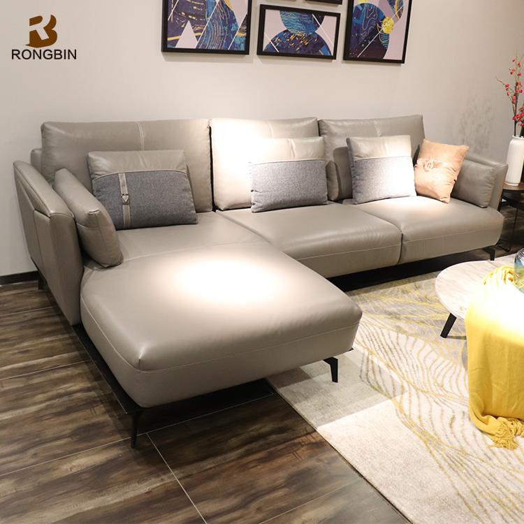 Scandinavian Italian Nappa Leather Sofa - Buy Italian Leather Sofa ...