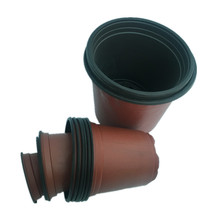 Incredible innovation in Plastic pots plant nursery Lowest price soft brown colour plastic flower pot with CE certificate