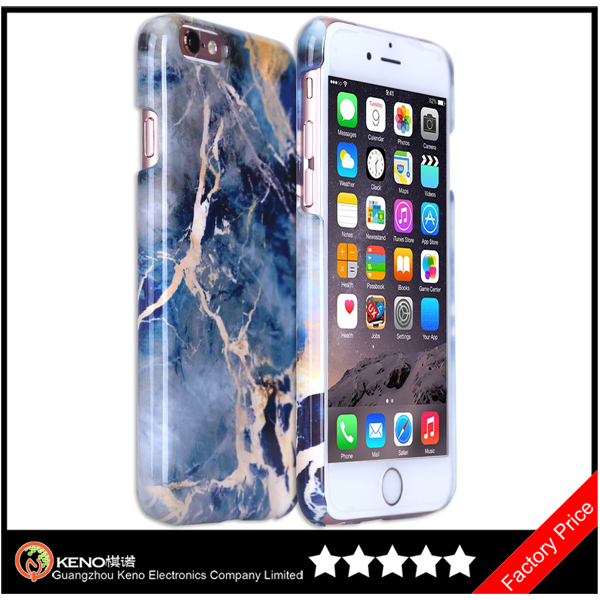 Keno Hot Selling Custom Marble Handphone Cover for iPhone 6S Material Marble Phone Case