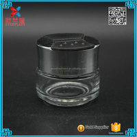 China supplier 30ml clear glass cosmetic jars and bottles