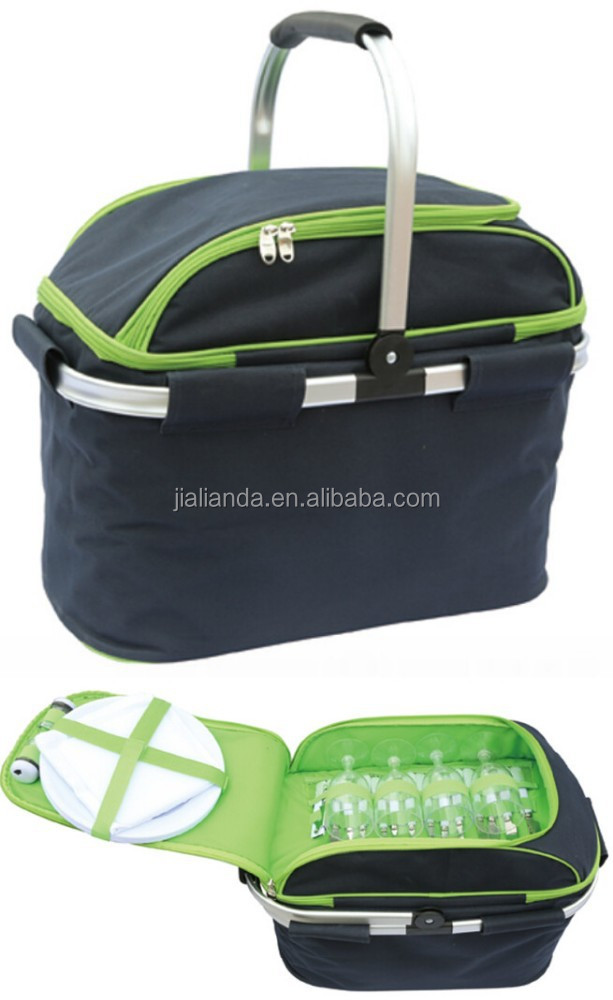 4 Person Picnic Cooler Bags with Lightweight Aluminum Frame JLD-09338