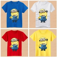 Blank Tshirt For Print For Children Clothing Kids Despicable Me Minion T Shirts