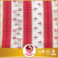 100 polyester jacquard red white stripe fabric for curtain