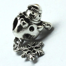 Pop Jewelry Pendant Snow Bead DIY Snowman Charm