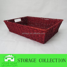 rectangular dark red seaweed basket