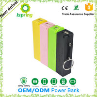 Key ring perfume Power bank 2600mAh 18650 bateria External Backup Battery for iPhone 4S