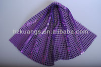 purple Sequin fabric for home textile