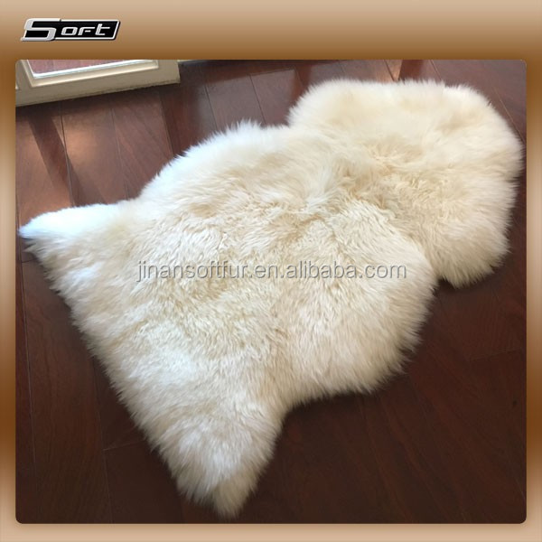 100% Long Wool Sheepskin Material Wholesale for upholstery