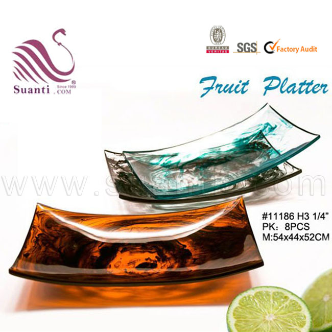 High End Modern Art Fashion White  Polyresin Decorative Fruit Bowl