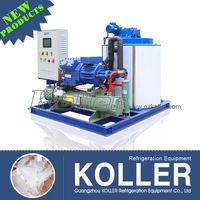 Koller 5TPD flake ice making machine with PLC touch screen for for fishery boat