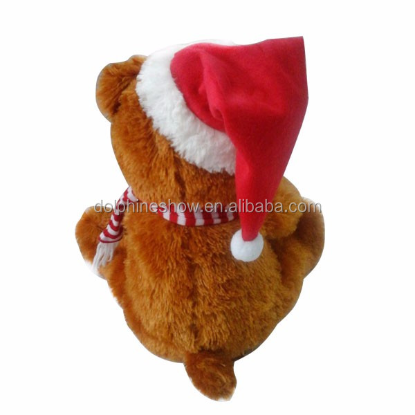 Christmas Teddy Bear Plush Toy Custom Factory Made Decoration Toys