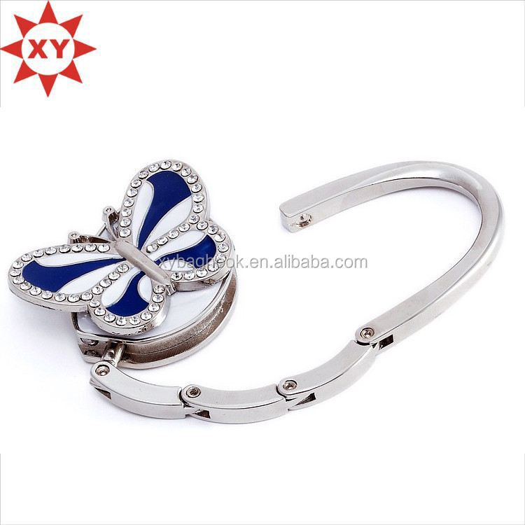 Alibaba wholesale butterfly purse hooks in square shape