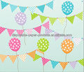 Flag Banner Bunting, Pink and White, Polka Dot, Stripes Chevron Baby Nursery Decor, Birthday Party Banner