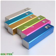 SINOTEK electronic corporate gifts 2600mah cellphone lipstick battery charger
