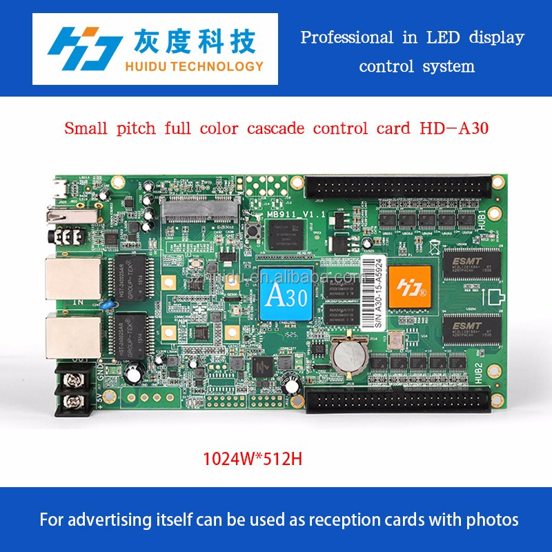 huidu led sending card and receiving card for P5 p6 led module HD-A30