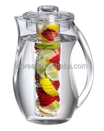 Sell well new type clear plastic acrylic infuser water pitcher