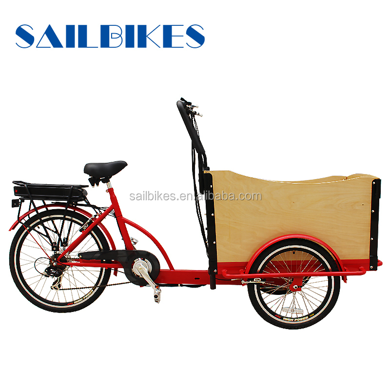 three wheel front box pedal assist electric cheap cargo trike/cheap cargo bike
