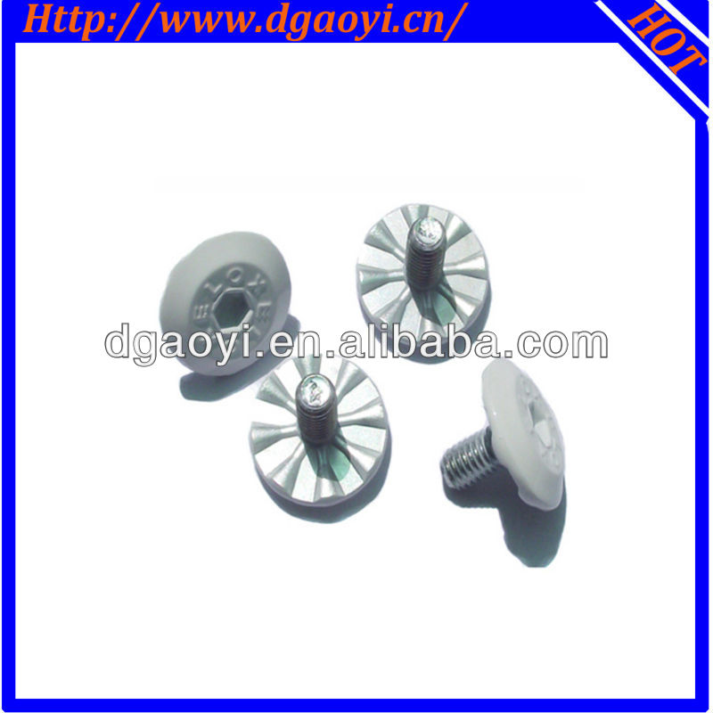 White painted head machine screw