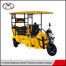 Enclosed passenger tricycle with roof/electric bicycle three wheel